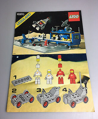 LEGO® Bauanleitung Space Classic 6970 Basis Station ungelocht Anleitung BA