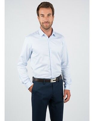 NEUF Father & Sons CHEMISE BLEUE COUPE SLIM XXL 2XL