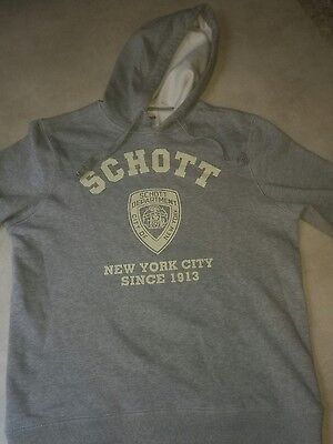 sweat shirt a capuche NEUF SCHOTT NYC  taille L