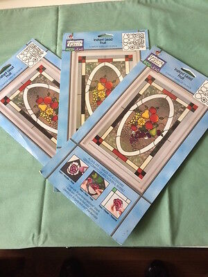 """""""FRUIT""""  Gallery Glass Instant Lead THREE PACKAGES"""