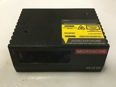 Microscan FIS-0820-0001 MS-820 Fixed Laser Barcode Scanner Uncoder 10-28VDC