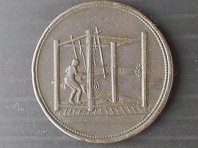 Undated One Penny Token From Barnsley (United Kingdom)