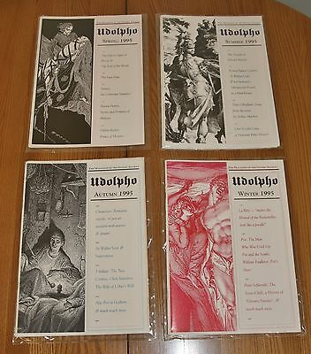 """""""Udolpho"""" - Quarterly Magazine of the Gothic Society, 1995, All 4 Mint Condition"""