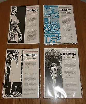 """""""Udolpho"""" - Quarterly Magazine of the Gothic Society, 1996, All 4 Mint Condition"""
