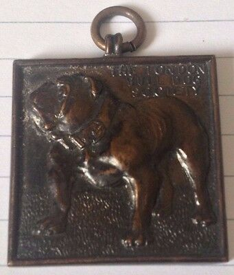 Antique London Bulldog Society Medal.named Master Anthonie