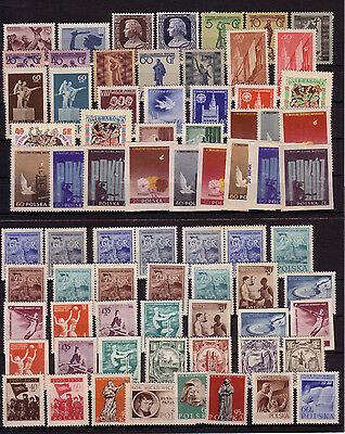 POLAND 1955 STAMPS COLLECTION MNH Sc# 664 - 716 INC. AIR + SEMI POSTAL