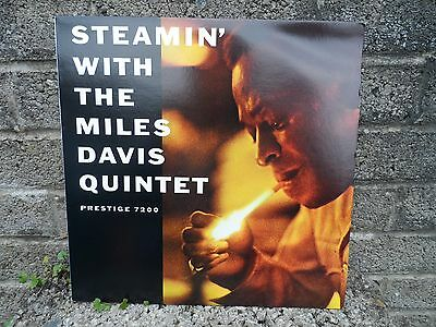 Steamin with the Miles Davis quintet - prestieg 7200 - vintage vinyl record LP