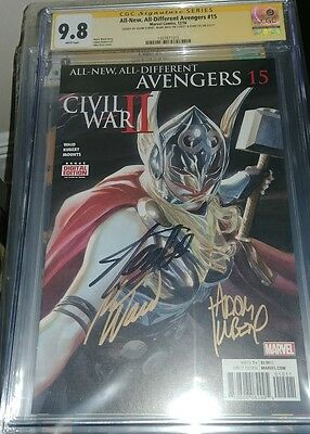 All New All Different Avengers #15 CGC SS 9.8 signed by Stan Lee, Kubert, & Waid