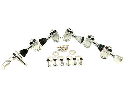 KLUSON REVOLUTION G-MOUNT DIECAST TUNERS 3+3 CHROME fits Gibson KED-3801C