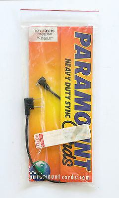 Paramount sync cord Household to PC long tip - 1' straight cord