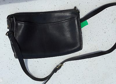 Vintage Genuine COACH Black Leather Shoulder Purse Handbag