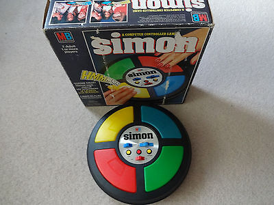 Vintage 1978 MB ELECTRONICS SIMON Game - Retro 1970s Toy - Boxed