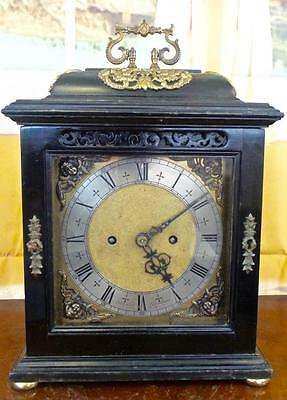 Specially commissioned vintage English twin fusee 8 day Bracket / table clock • £665.00