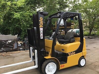 2005 Yale Forklift With Sideshift Triple Mast Rental Specs