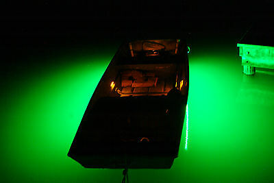 Premium Ultra Bright Green L.E.D. Boat Fishing Light Kit Attract Bait & Fish