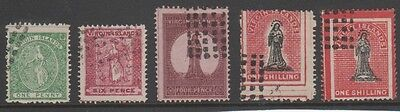 BRITISH VIRGIN ISLANDS 1d, 6d, 4d, 1/- (2) CLASSIC FORGERY STAMPS