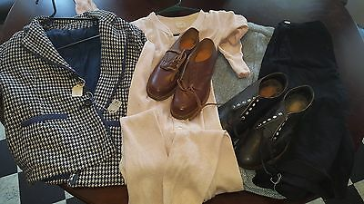 Lot of 1950's vintage clothing and shoes skirts blazer long underwear