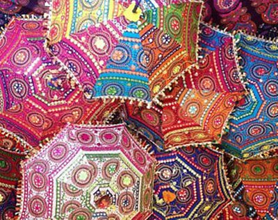 20 Pcs Lot Wholesale Embroidered Umbrella Rajasthani Handmade Vintage Parasols