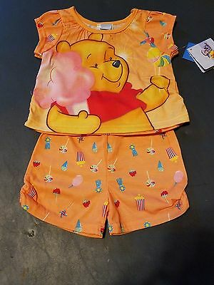 Baby Girls Clothes~ Adorable Disney Winnie The Pooh Pajama Shorts Set Size 12M