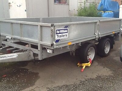 """ifor williams trailer  LM106G 10ft x 6ft6"""" twin axle drop side ( no vat )"""