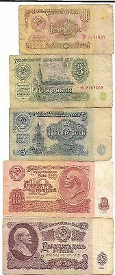 Old CCCP Cold War Russian Rubles Dollar Money LENIN Big Bank Note Collection Lot
