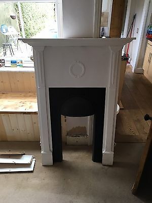 Black And White Iron Fire Surround