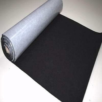 BS EN 71 BLACK Sticky Self Adhesive Felt Baize Fabric Mini 5m Rolls UK MADE