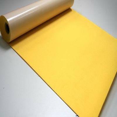 BS EN 71 YELLOW Sticky Self Adhesive Felt Baize Fabric Mini 5m Rolls UK MADE