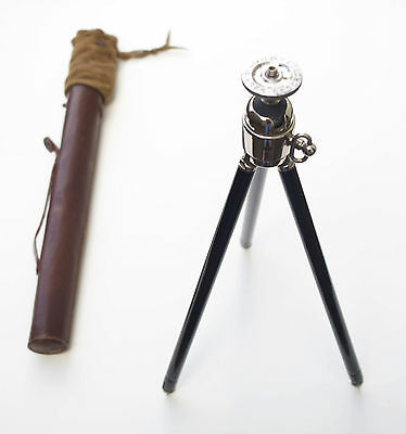 Beautiful Vintage 1950's Telescopic Camera Tripod, With Leather Case