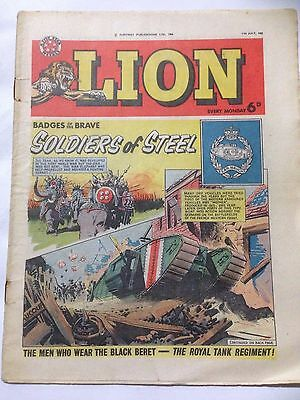 Fleetway Publications LION Comic July 11th 1964 **Free UK Postage**