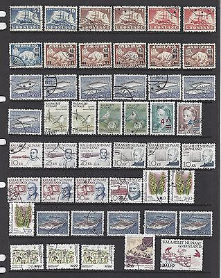 Greenland Used Lot, Wide Range with Dups, '16 Scv $400+