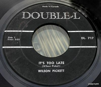 Wilson Pickett It's Too Late I'm Gonna Love You Double-L 1963 Soul