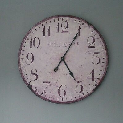 EXTRA LARGE French Country - Vintage - Shabby Chic - Station style wall clock