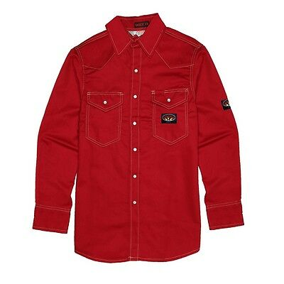 Men's Rasco FR Red Flame Resistant 7.5oz Work Shirt RR756