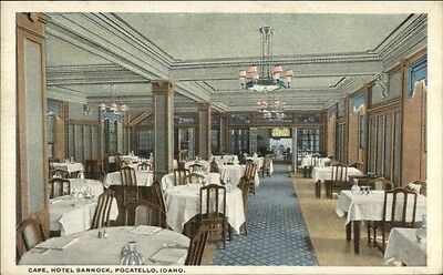 Pocatello ID Hotel Bannock Caf' c1920 Postcard