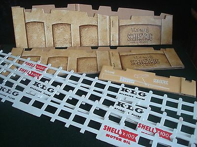2x Vintage Scalextric Card Bridge Supports & Further Additional Fencing/Barriers