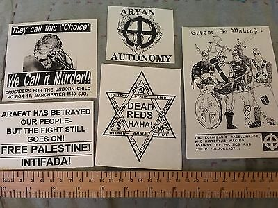 5x UK flyers Rare skinhead isd bnp National Front b28 Crusaders Third Position