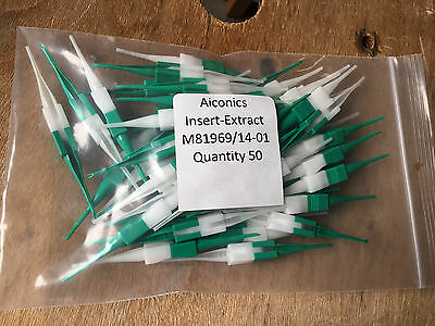 50 New Aiconics M81969/14-01 Insertion Extraction Tool White Green