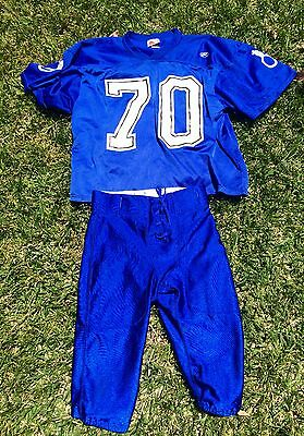 Youth League Outlaws Football Uniform Game Jersey and Pants, Youth Large / XL