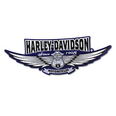 Harley-Davidson Embroidered Police Wing Patch