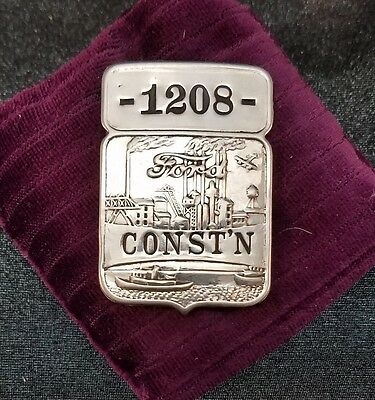 "☆ RARE ☆ vintage and original ~ FORD employee badge ~ ""CONST'N"""