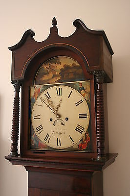 ORNATE PAINTED DIAL 8 DAY LONGCASE CLOCK by COUZENS of LANGPORT SOMERSET • £695.00