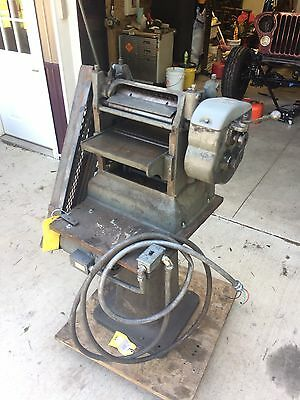 "PARKS 12"" Wood Planer, w/ Heavy Metal Stand"
