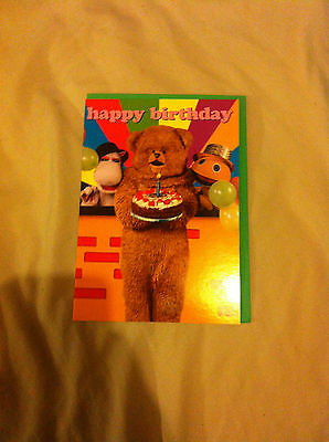 BN Happy Birthday card with Bungle Zippy and Bungle from Rainbow on the front