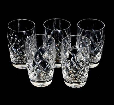 Vintage set of 5 cut crystal whisky tall tumblers with a lovely sparkle