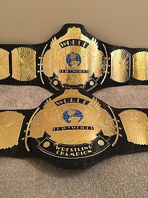 WWE  / WWF CLASSIC GOLD Winged Eagle REPLICA Title Belt  With Carry Case