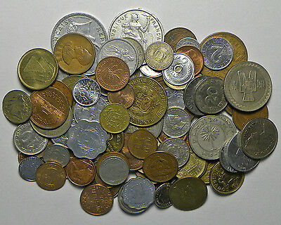 Lot of 100 world coins from 100 countries (circulated)