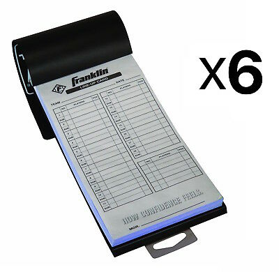 Franklin Sports MLB Baseball Softball Roster Lineup Cards 20 Games (6-Pack)