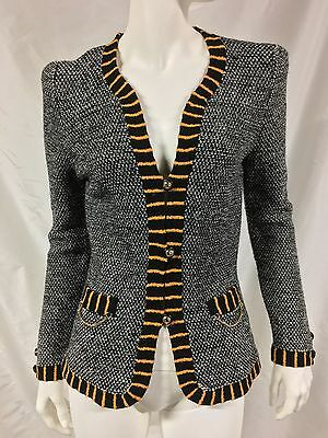 Vintage ADOLFO Neiman Marcus Wool Knit Fitted Jacket~Size S