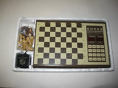 Vintage Fidelity Chess Challenger Electronic Set Complete w/ Box
